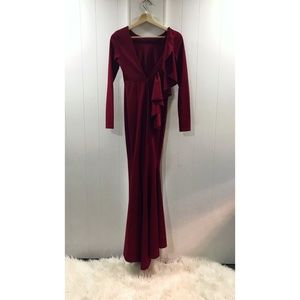 Prom Dress- size small Burgundy red